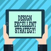 Text Sign Showing Design Excellent Management. Conceptual Photo Enable Innovation And Create Effecti poster