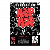 Rap Battle, Concert Hip-hop Music. Vector Template Design, Flyer, Poster, Brochure, Cover Book, Page poster