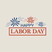 Happy Freedom Labor Day Logo. Flat Illustration Of Happy Freedom Labor Day Logo For Web Design poster