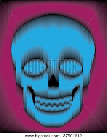 Sliced Gradient Skull