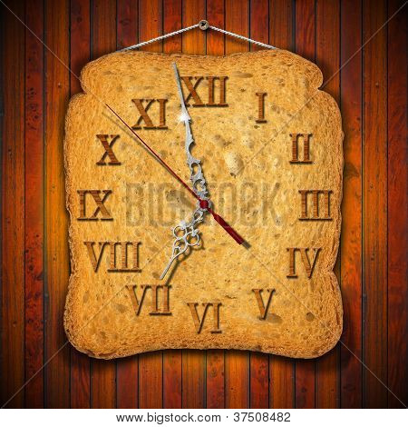 Rusk Clock - Breakfast Concept
