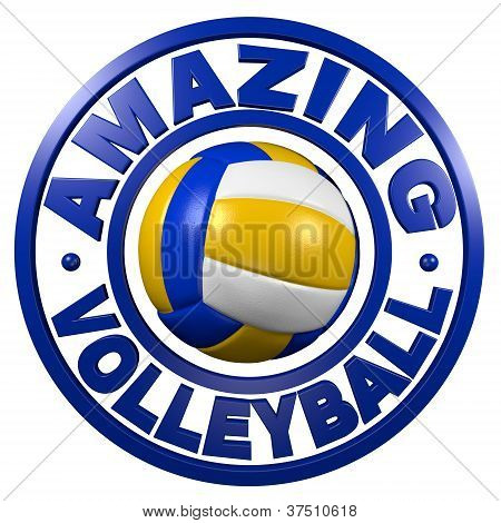 Amazing Volleyball Circular Design