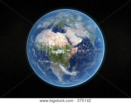 Photorealistic Earth.