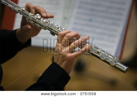 Flutists Woman With Nodes