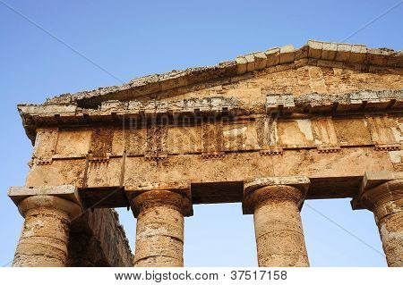 The greek temple of Segesta in Sicily