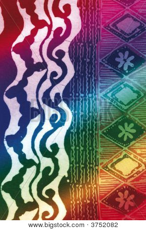 Colorful Rainbow Batik With Graphics