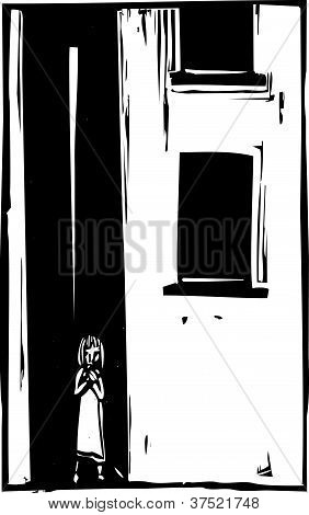 Child Alone In Alley