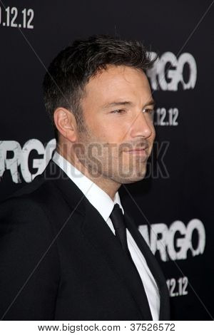 "LOS ANGELES - OCT 4:  Ben Affleck arrives at the ""ARGO"" Premiere at Samuel Goldwyn Theater on October 4, 2012 in Beverly Hills, CA"