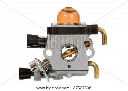 Carburetor, Isolated On White Background