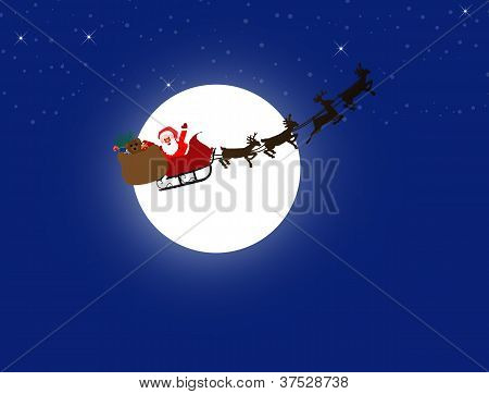 Santa Claus And His Sleigh