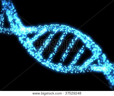 Blue DNA helix background