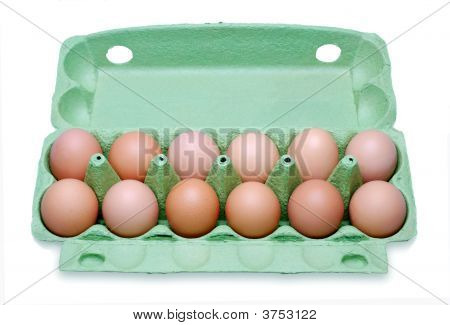 Dozen Eggs In A Box