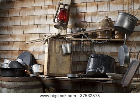 Traditional Cowboy Makeshift Camp Kitchen