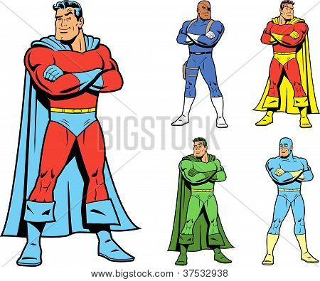 Classic Superhero And Cool Variations Image Set
