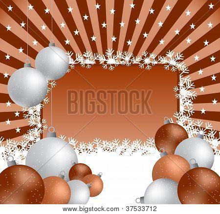 Christmas Balls And Sunburst