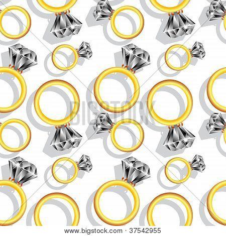 Patrón de anillos de diamante