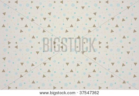 Geometric Vintage Pattern On Texture