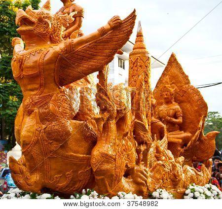 Thai art form of wax