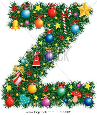 Alphabet Letter Z - Christmas Decoration
