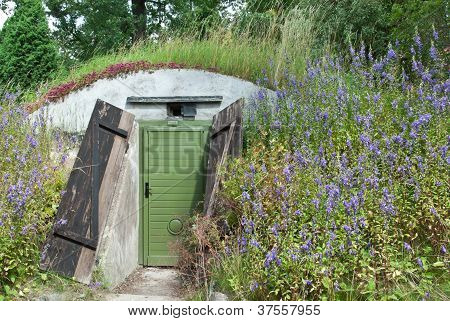Underground Dwelling Under A Blooming Hill