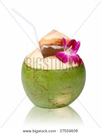 Green Coconut, Clipping Path.
