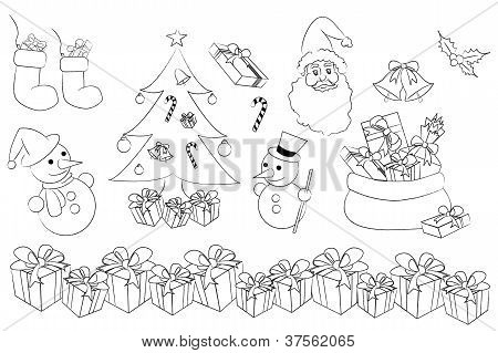 thevector set of christmas concept