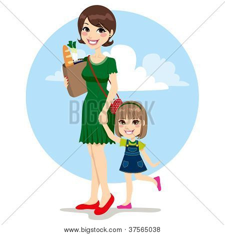 Mother And Daughter Shopping