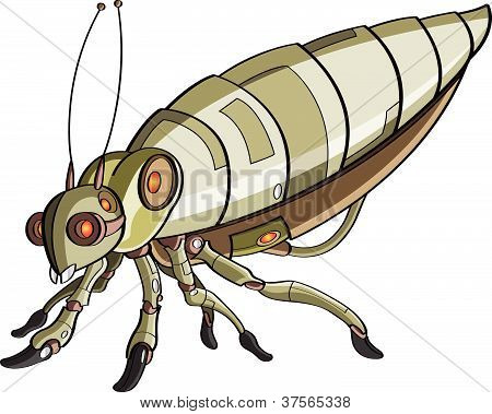 Cartoon robotic insect