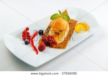 Luscious Dessert On A Plate