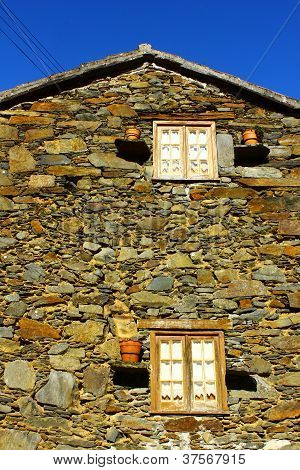 Detail of an house at a little portuguese schist village