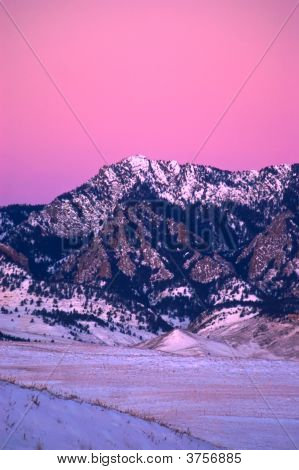 Flatiron Mountains In Boulder At Sunrise