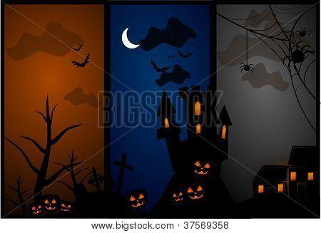 Spooky halloween illustration vector