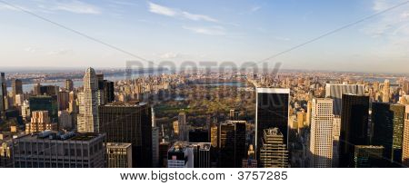 Manhattan And Central Park Panorama
