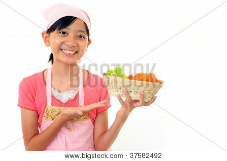 Girl with food