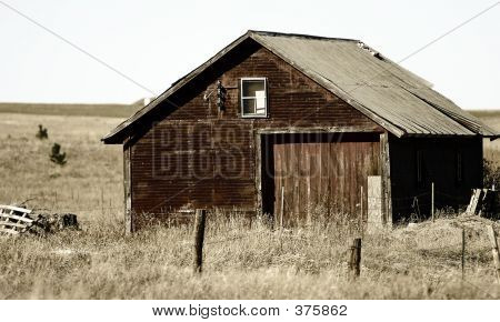 Rundown Country Barn