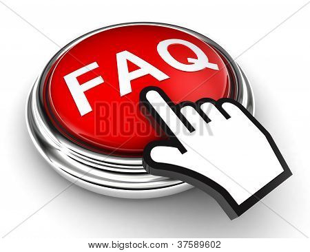 Faq Red  Button And Pointer Hand