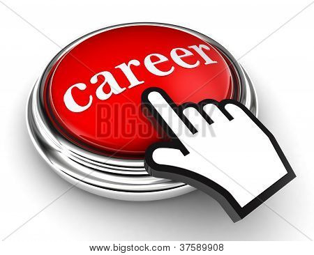 Career Red Button And Pointer Hand