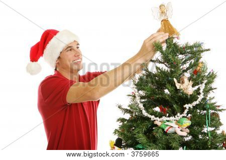 Decorating Christmas Tree - Treetop Angel