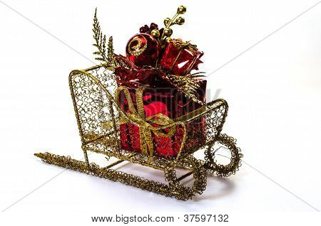 Christmas Gift On Sleigh