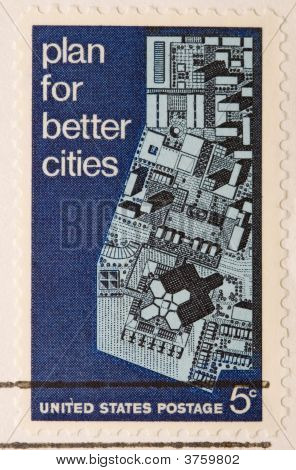 Vintage Us Stamp 1967 Plan For Better Cities