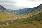 Highland Landscape In Iceland..