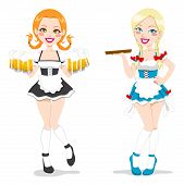Beautiful Oktoberfest Waitresses