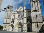 picture of poitiers  - Old medieval Gothic church in Poitiers - JPG
