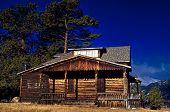 image of colorado high country  - A Rustic old wooden cabin in Colorado  - JPG
