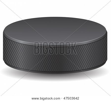 Hockey Puck Vector Illustration