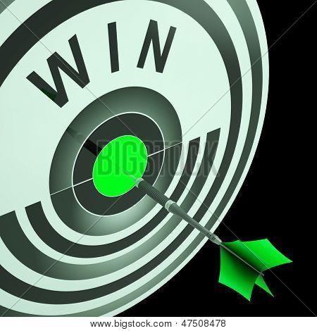 Win Target Means Triumphant Champion Success