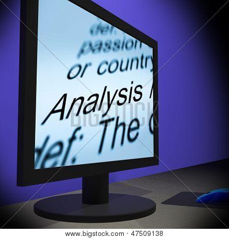 Analysis On Monitor Shows Verification