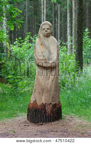 Wooden Statue Of A Woman