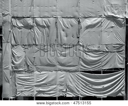 Wrinkled Tarpaulin Canvas Background