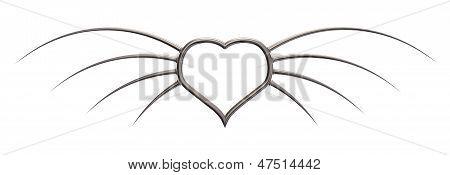 Metal Wings Heart